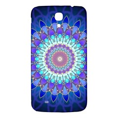 Power Flower Mandala   Blue Cyan Violet Samsung Galaxy Mega I9200 Hardshell Back Case by EDDArt