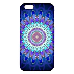 Power Flower Mandala   Blue Cyan Violet Iphone 6 Plus/6s Plus Tpu Case by EDDArt