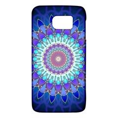 Power Flower Mandala   Blue Cyan Violet Galaxy S6 by EDDArt