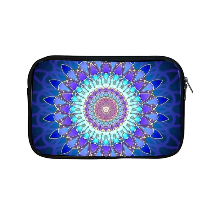 Power Flower Mandala   Blue Cyan Violet Apple MacBook Pro 13  Zipper Case