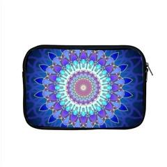 Power Flower Mandala   Blue Cyan Violet Apple Macbook Pro 15  Zipper Case by EDDArt