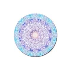 India Mehndi Style Mandala   Cyan Lilac Magnet 3  (round) by EDDArt