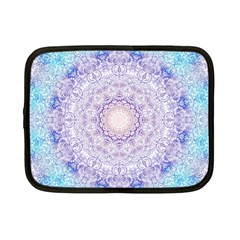 India Mehndi Style Mandala   Cyan Lilac Netbook Case (small)  by EDDArt