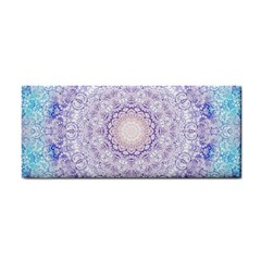 India Mehndi Style Mandala   Cyan Lilac Cosmetic Storage Cases by EDDArt
