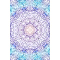 India Mehndi Style Mandala   Cyan Lilac 5 5  X 8 5  Notebooks by EDDArt