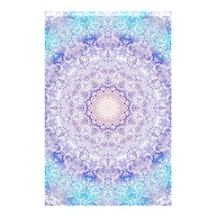 India Mehndi Style Mandala   Cyan Lilac Shower Curtain 48  X 72  (small)  by EDDArt