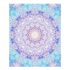 India Mehndi Style Mandala   Cyan Lilac Shower Curtain 60  X 72  (medium)  by EDDArt