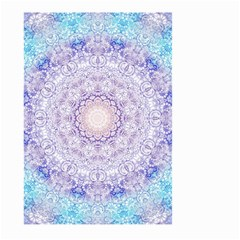 India Mehndi Style Mandala   Cyan Lilac Large Garden Flag (two Sides) by EDDArt