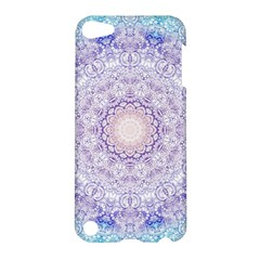 India Mehndi Style Mandala   Cyan Lilac Apple Ipod Touch 5 Hardshell Case by EDDArt
