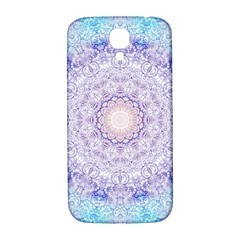 India Mehndi Style Mandala   Cyan Lilac Samsung Galaxy S4 I9500/i9505  Hardshell Back Case by EDDArt