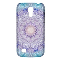 India Mehndi Style Mandala   Cyan Lilac Galaxy S4 Mini by EDDArt