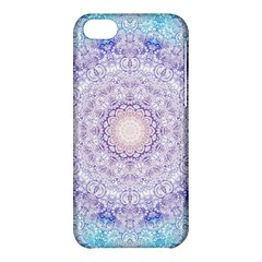 India Mehndi Style Mandala   Cyan Lilac Apple Iphone 5c Hardshell Case by EDDArt