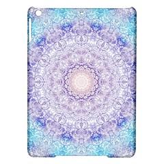 India Mehndi Style Mandala   Cyan Lilac Ipad Air Hardshell Cases by EDDArt