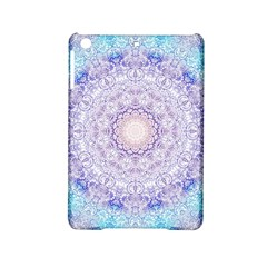 India Mehndi Style Mandala   Cyan Lilac Ipad Mini 2 Hardshell Cases by EDDArt