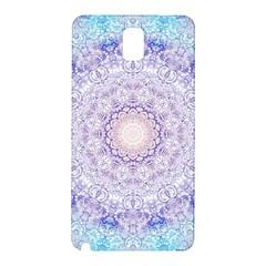 India Mehndi Style Mandala   Cyan Lilac Samsung Galaxy Note 3 N9005 Hardshell Back Case by EDDArt