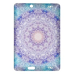 India Mehndi Style Mandala   Cyan Lilac Amazon Kindle Fire Hd (2013) Hardshell Case by EDDArt