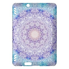 India Mehndi Style Mandala   Cyan Lilac Kindle Fire Hdx Hardshell Case by EDDArt