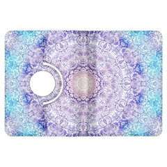 India Mehndi Style Mandala   Cyan Lilac Kindle Fire Hdx Flip 360 Case by EDDArt