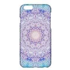 India Mehndi Style Mandala   Cyan Lilac Apple Iphone 6 Plus/6s Plus Hardshell Case by EDDArt