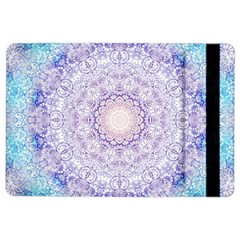 India Mehndi Style Mandala   Cyan Lilac Ipad Air 2 Flip by EDDArt