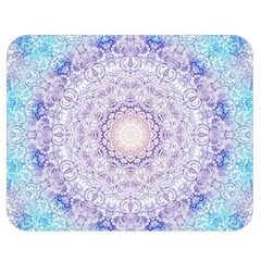 India Mehndi Style Mandala   Cyan Lilac Double Sided Flano Blanket (medium)  by EDDArt