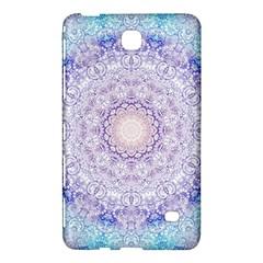 India Mehndi Style Mandala   Cyan Lilac Samsung Galaxy Tab 4 (7 ) Hardshell Case  by EDDArt