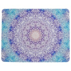 India Mehndi Style Mandala   Cyan Lilac Jigsaw Puzzle Photo Stand (rectangular) by EDDArt