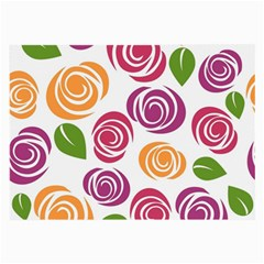 Colorful Seamless Floral Flowers Pattern Wallpaper Background Large Glasses Cloth