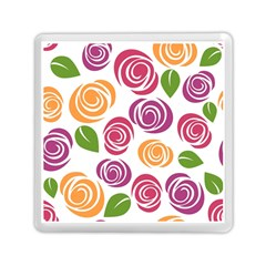 Colorful Seamless Floral Flowers Pattern Wallpaper Background Memory Card Reader (square)  by Amaryn4rt