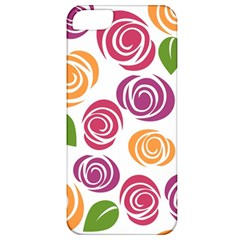 Colorful Seamless Floral Flowers Pattern Wallpaper Background Apple Iphone 5 Classic Hardshell Case by Amaryn4rt