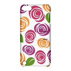 Colorful Seamless Floral Flowers Pattern Wallpaper Background Apple Ipod Touch 5 Hardshell Case With Stand by Amaryn4rt