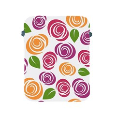Colorful Seamless Floral Flowers Pattern Wallpaper Background Apple Ipad 2/3/4 Protective Soft Cases by Amaryn4rt