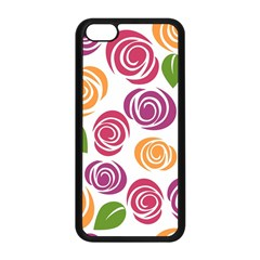 Colorful Seamless Floral Flowers Pattern Wallpaper Background Apple Iphone 5c Seamless Case (black) by Amaryn4rt