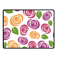 Colorful Seamless Floral Flowers Pattern Wallpaper Background Double Sided Fleece Blanket (small)  by Amaryn4rt