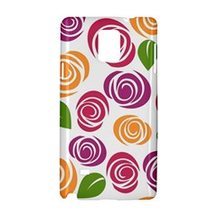 Colorful Seamless Floral Flowers Pattern Wallpaper Background Samsung Galaxy Note 4 Hardshell Case by Amaryn4rt