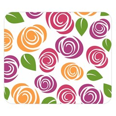 Colorful Seamless Floral Flowers Pattern Wallpaper Background Double Sided Flano Blanket (small)  by Amaryn4rt