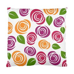 Colorful Seamless Floral Flowers Pattern Wallpaper Background Standard Cushion Case (two Sides) by Amaryn4rt