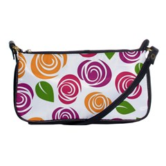 Colorful Seamless Floral Flowers Pattern Wallpaper Background Shoulder Clutch Bags by Amaryn4rt