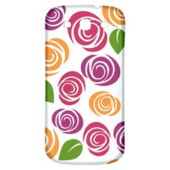 Colorful Seamless Floral Flowers Pattern Wallpaper Background Samsung Galaxy S3 S Iii Classic Hardshell Back Case by Amaryn4rt