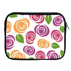 Colorful Seamless Floral Flowers Pattern Wallpaper Background Apple Ipad 2/3/4 Zipper Cases by Amaryn4rt