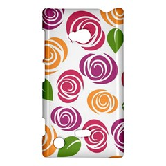 Colorful Seamless Floral Flowers Pattern Wallpaper Background Nokia Lumia 720 by Amaryn4rt