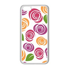 Colorful Seamless Floral Flowers Pattern Wallpaper Background Apple Iphone 5c Seamless Case (white) by Amaryn4rt