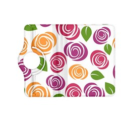 Colorful Seamless Floral Flowers Pattern Wallpaper Background Kindle Fire Hd (2013) Flip 360 Case by Amaryn4rt