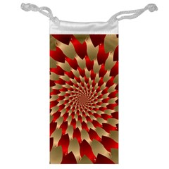 Fractal Red Petal Spiral Jewelry Bag by Amaryn4rt