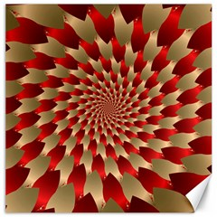 Fractal Red Petal Spiral Canvas 16  X 16   by Amaryn4rt