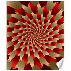 Fractal Red Petal Spiral Canvas 20  X 24   by Amaryn4rt