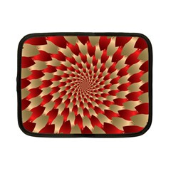 Fractal Red Petal Spiral Netbook Case (small)  by Amaryn4rt