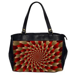 Fractal Red Petal Spiral Office Handbags by Amaryn4rt