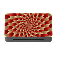 Fractal Red Petal Spiral Memory Card Reader With Cf by Amaryn4rt