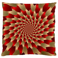 Fractal Red Petal Spiral Large Cushion Case (two Sides) by Amaryn4rt